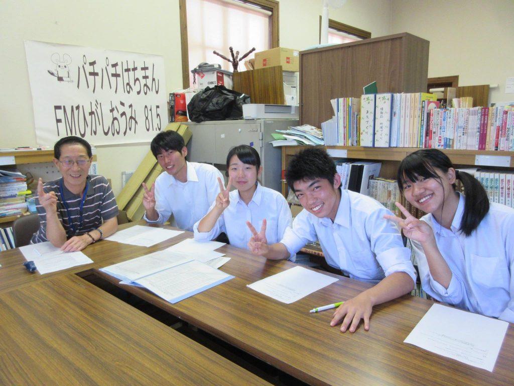八幡商業高校の天八(テンパチ)商店のみなさんにご出演いただきました。