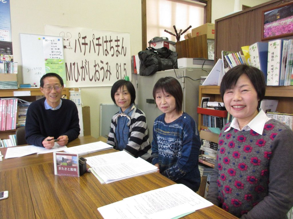 近江八幡北里女声コーラスの矢崎さん、澤野さん、中峯さんにご出演いただきました。