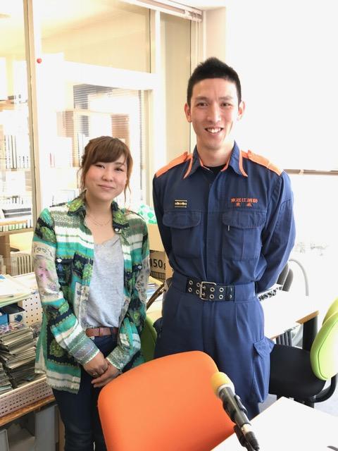 東近江消防本部 日野消防署 の東森さんに出演して頂きました