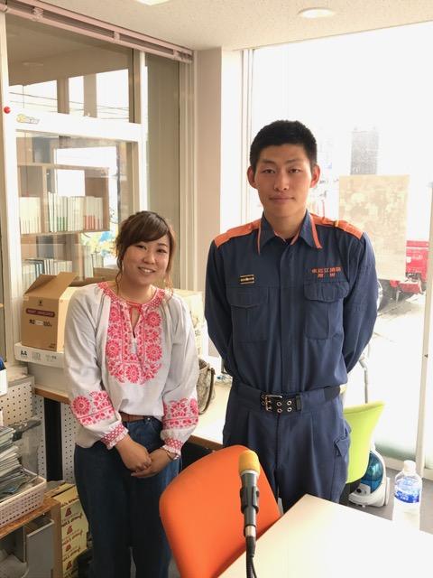 東近江消防本部 八日市消防署 の増田さんに出演して頂きました