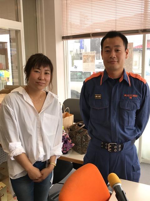 東近江消防本部 愛知消防署 の岡さんに出演して頂きました